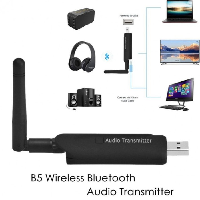 harga Wireless audio transmitter bluetooth b5 - olb1845 Tokopedia.com