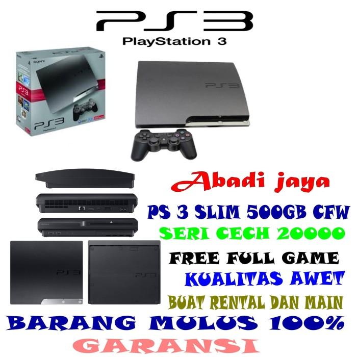 harga Promo murah!!! ps 3 slim 500gb full game Tokopedia.com
