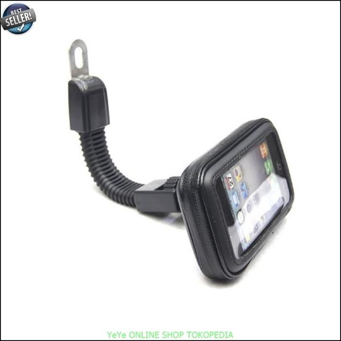 harga Holder sarung hp smartphone motor waterproof universal black y3196 Tokopedia.com
