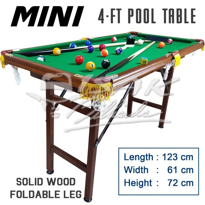 harga Mini pool table 4-ft wood - mainan hadiah anak meja biliar billiard Tokopedia.com