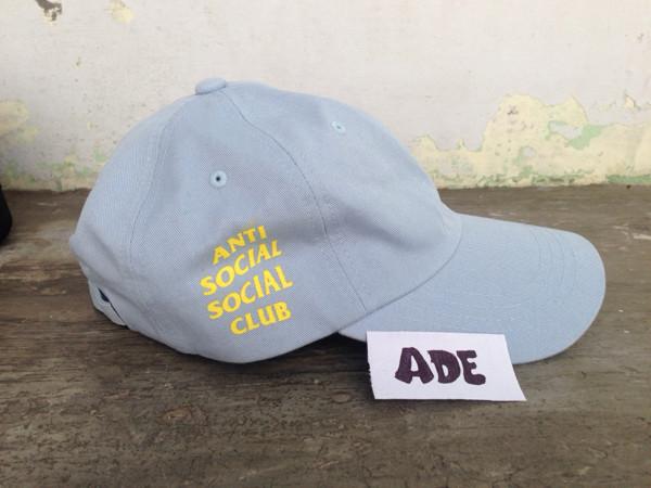 4e3492a48d84 Jual anti social social club weird cap assc baby blue   yellow - Kab ...