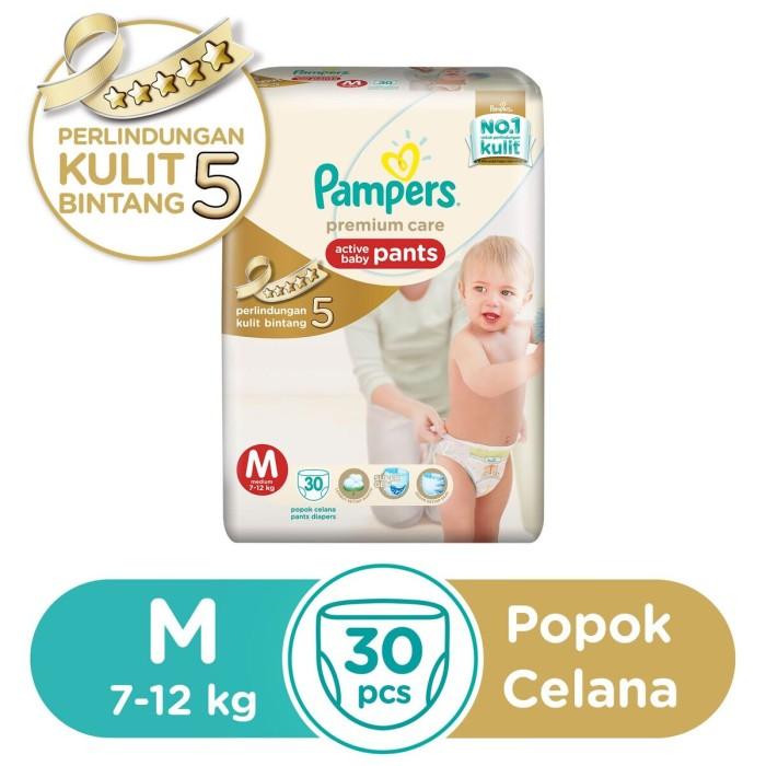 harga Pampers popok celana premium care m-30 Tokopedia.com