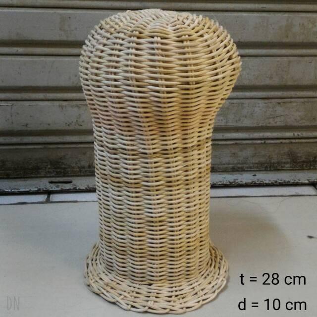 harga Display rotan untuk tempat pajang wig / topi / bando Tokopedia.com