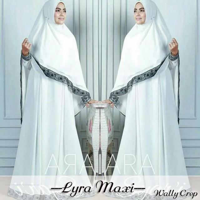 Busana Muslim Wanita Syari Gaun Pesta Muslim Gamis Muslimah Lyra Maxi b0f89e2ca7