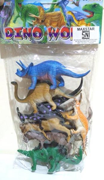Mainan Dinosaurus Karet Besar Dino World Baru