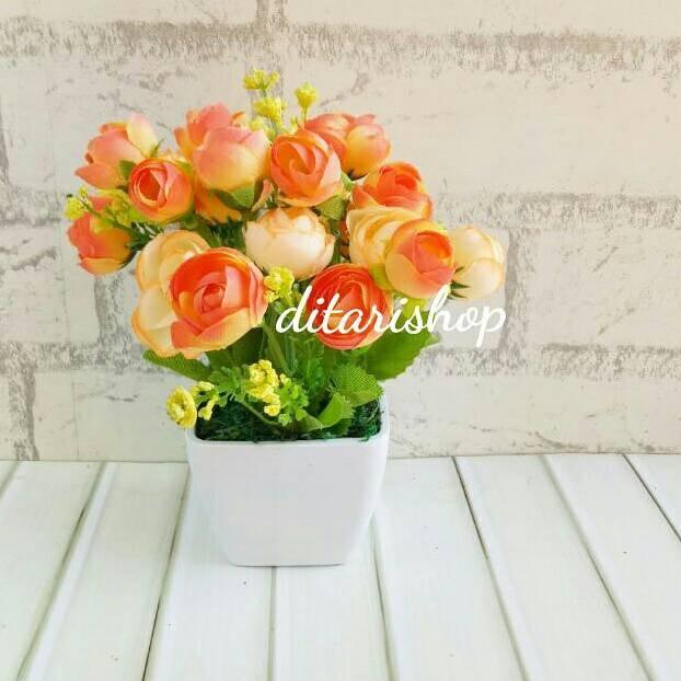 harga Buket bunga plastik artificial artifisial palsu dekorasi bunga shabby Tokopedia.com