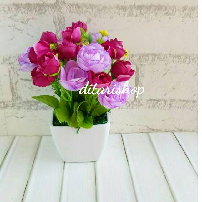 harga Buket bunga plastik artificial palsu dekorasi rumah vintage Tokopedia.com