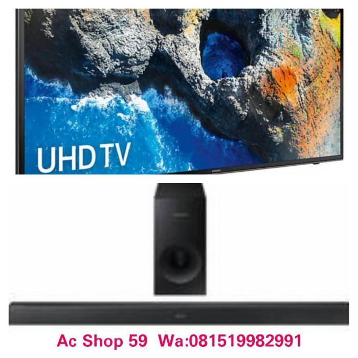 ec5f8aeb4 Jual TV LED SAMSUNG 50 MU-6100 UHD SMART 4K FREE SOUNDBAR HW-M 360 ...