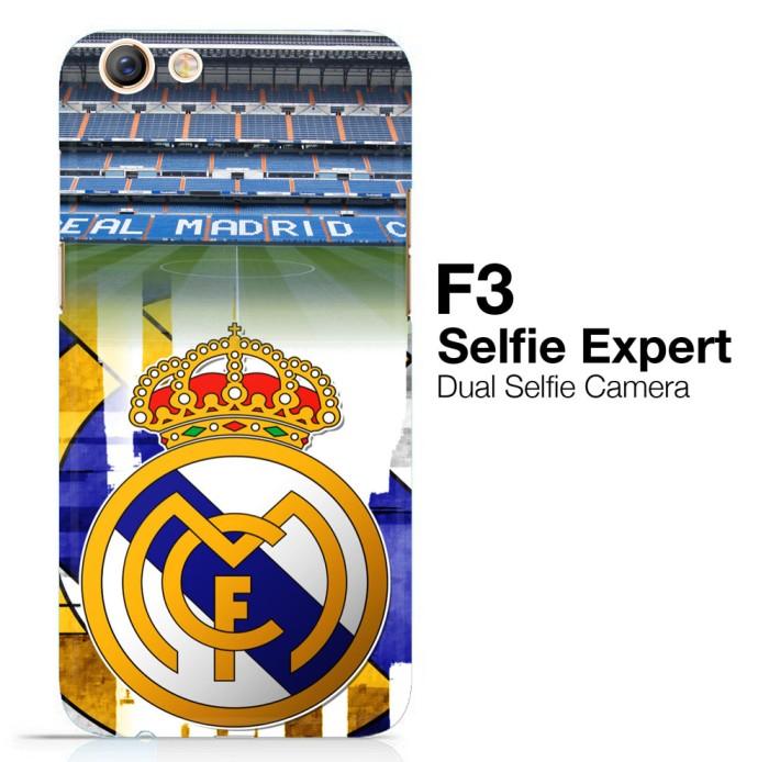 Real Madrid Logo Wallpaper X3102 Oppo F3 3D Full Print Case