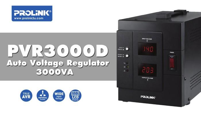 harga Stabilizer prolink 3000 va - auto voltage regulator pvr3000 d Tokopedia.com