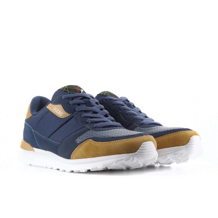 harga Sepatu casual piero original steel runner navy/brown 2017 Tokopedia.com
