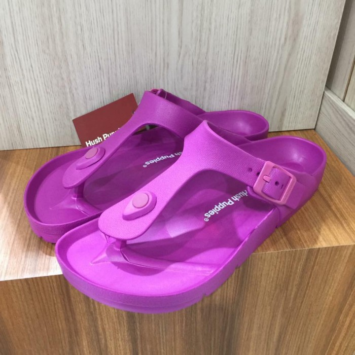 harga Sandal hush puppies hillary thong purple original sale Tokopedia.com