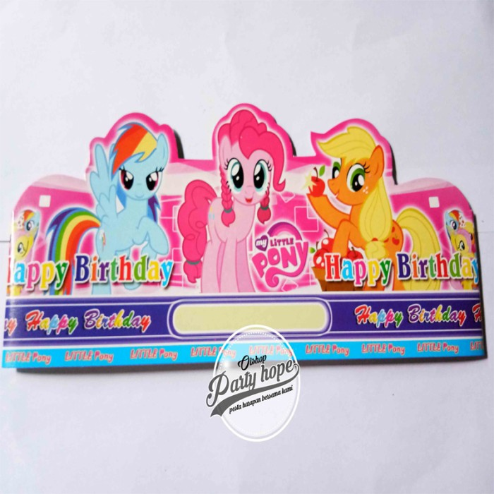 Foto Produk topi ultah little pony / topi lingkar little pony / topi little pony dari PARTY HOPE 2
