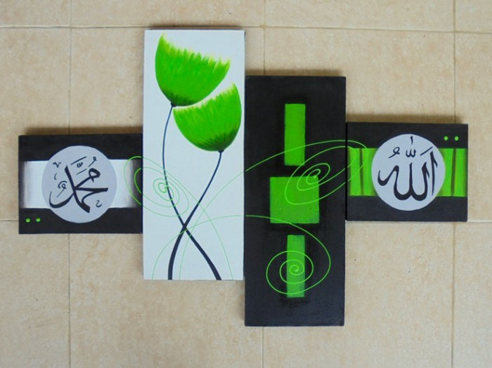 harga Lukisan kaligrafi bunga abstrak hijau p4-169 Tokopedia.com
