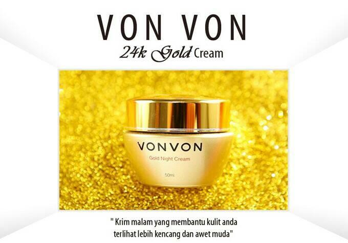 harga Vonvon 24k gold night cream dijamin 100% original lejel home shopping Tokopedia.com
