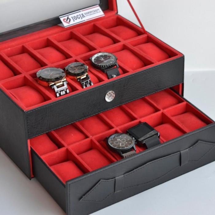 Jogja Craft Kotak Jam Tangan Isi 12 Hitam Dalam Cream Tempat Jual Source · harga Kotak