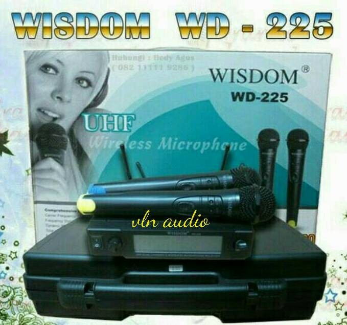 harga Microphone wireless wisdom wd.225 Tokopedia.com
