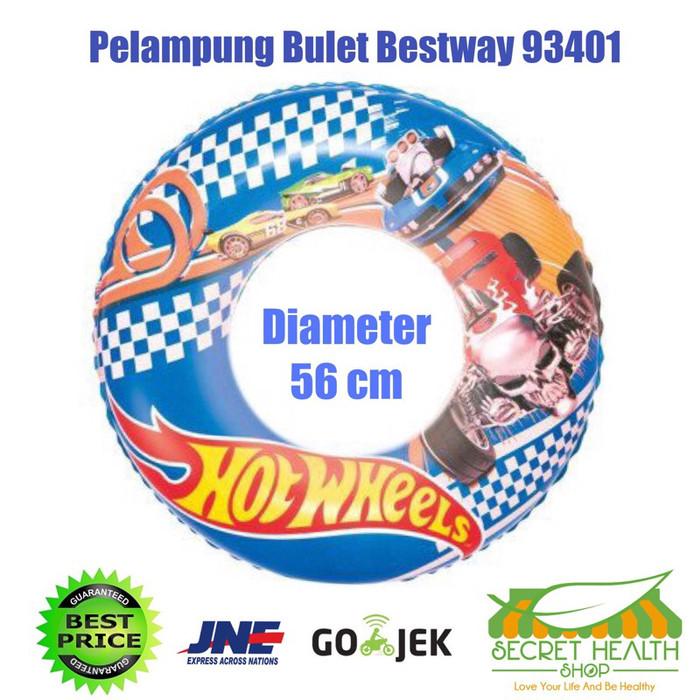 harga Ban renang pelampung bulat bestway 93401 hot wheels swim ring anak Tokopedia.com