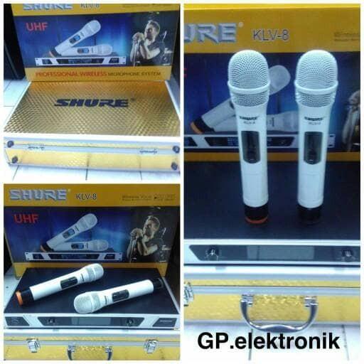harga Waireless microphone shure klv-8 Tokopedia.com