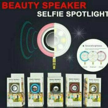 harga Speaker mini + lampu selfie 2 in 1 Tokopedia.com