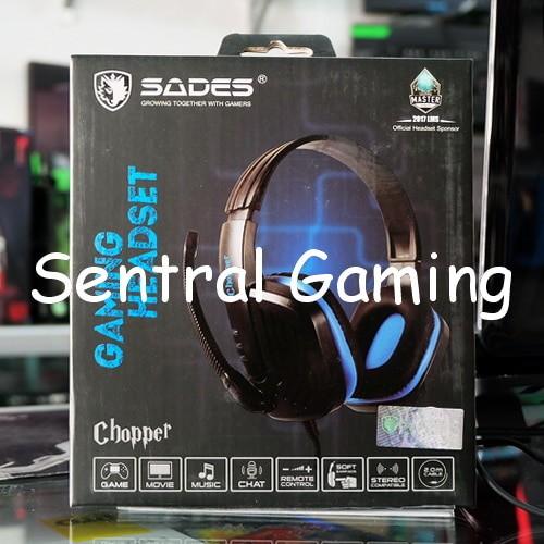 Sades chopper sa-711 blue stereo gaming headset ...