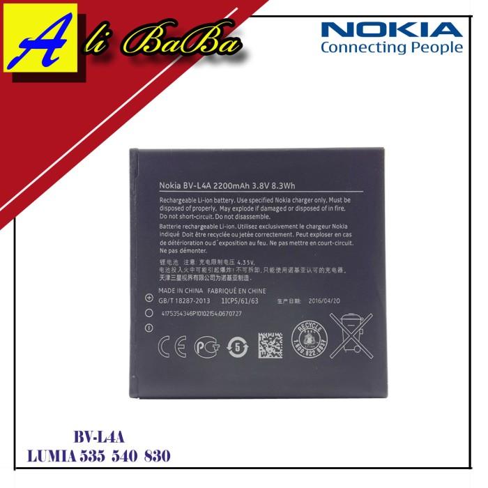 harga Baterai handphone nokia bv-l4a nokia lumia 535 540 830 battery hp Tokopedia.com