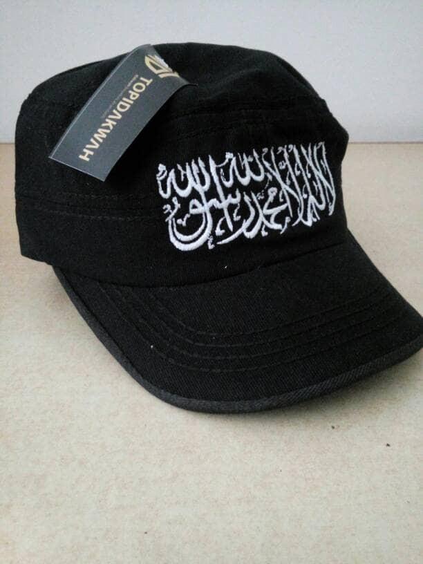 Jual bendera tauhid Topi Tauhid komando   trendy 212 - Toko Muslim ... 9e1f6122f2