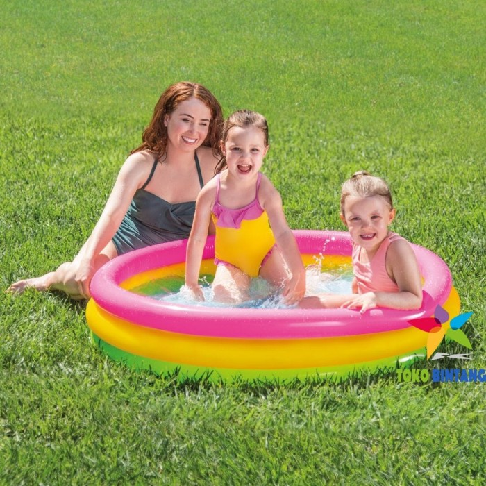 harga Intex kolam renang pompa anak pelangi besar | sunset glow | 114x25 cm Tokopedia.