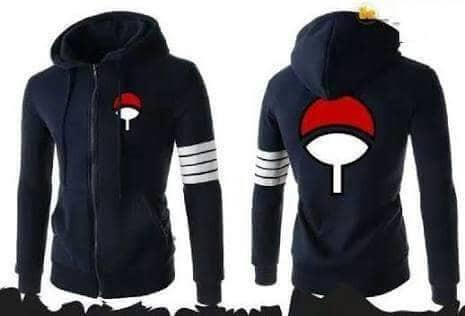 harga Jaket sweater hoodie anime logo uchiha zipper 4 strip Tokopedia.com