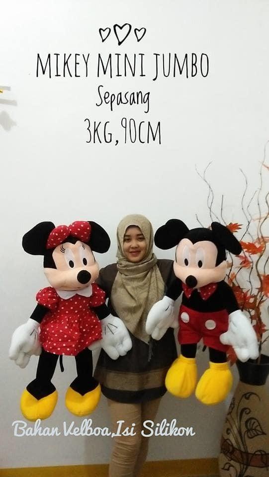 Foto Produk Boneka Mickey & Minnie Mouse Jumbo 1 pasang dari NN BONEKAKU
