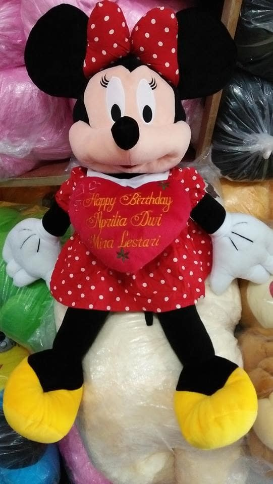 Foto Produk Boneka Mickey / Minnie Mouse Jumbo ukir nama dari NN BONEKAKU