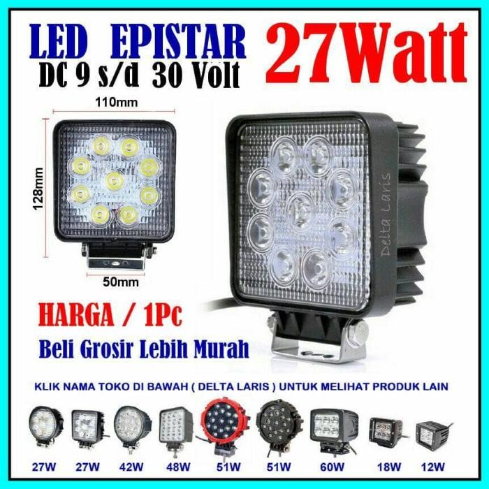harga Lampu Sorot Tembak Led Offroad 27w 27watt Mobil Motor 12volt 24volt Tokopedia.com