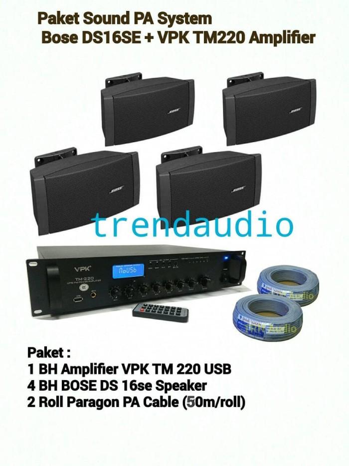 Bose Sound System >> Jual Paket Sound Pa System Bose Ds 16 Se Vpk Tm 220 Amplifier Jakarta Barat Trendaudio Tokopedia