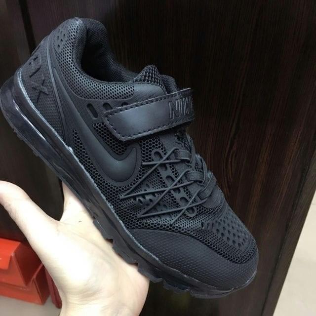 harga Sepatu Anak Nike Airmax Hitam Untuk Sekolah Tk Sd Paud Kualitas Import Tokopedia.com