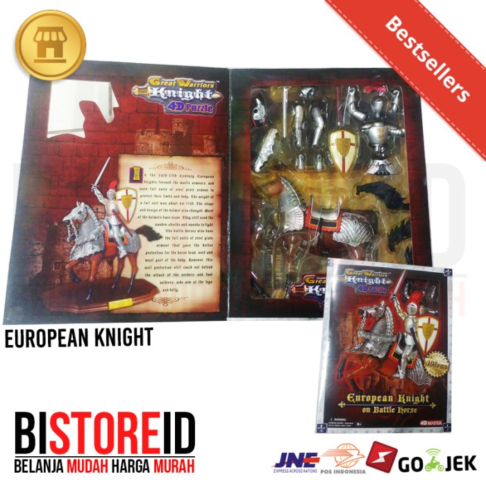 Figur Set Figure Great Warrior Puzzle 4D European Knight with horse