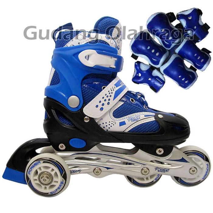 Sepatu Roda BAJAJ Pink + Deker   Pelindung Inline Skate Satu Set Murah 65ebd50a9c