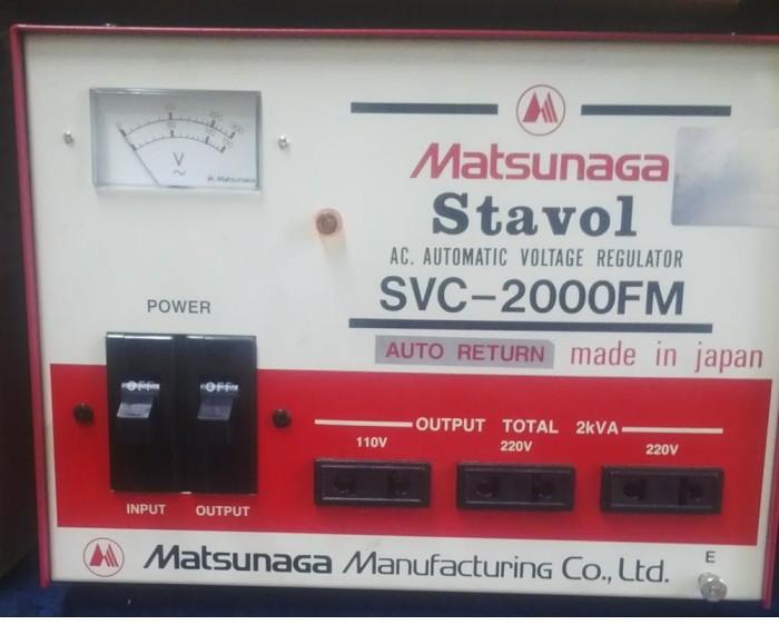 harga (gojek) stabilizer matsunaga 2000 watt made in japan [original] Tokopedia.com
