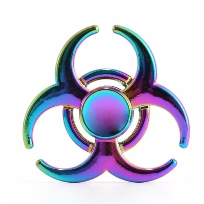 Fidget Spinner Rainbow Virus Infection Colour Aluminium Brass
