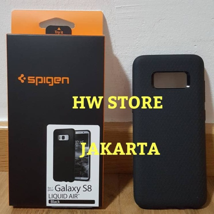 detailed look 18589 99b63 Jual Original Spigen Liquid Air/ Armor Samsung Galaxy S8 Black - HW Store  Jakarta | Tokopedia