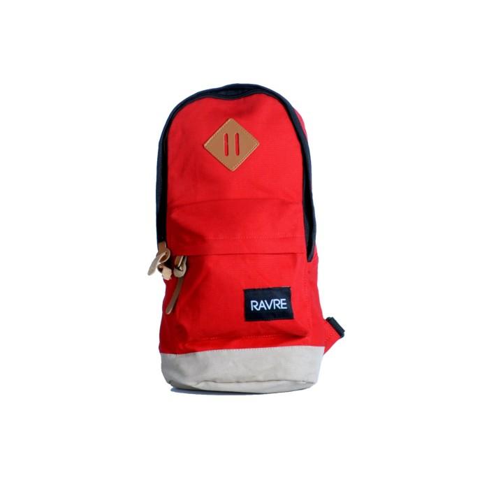 Tas Sling Bag Pria The Capsule Red Cream RAVRE ORIGINALS