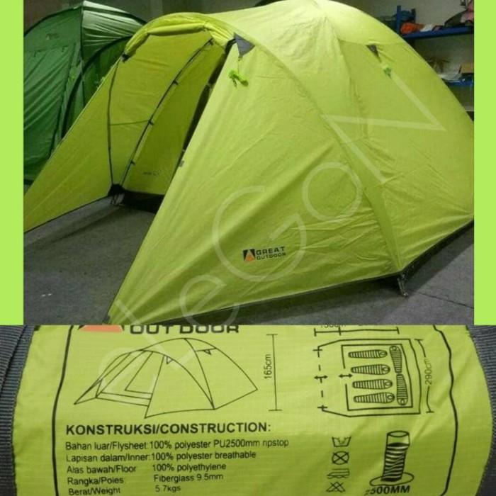 Tenda Go Great Outdoor Java 6 Pro (6-8 Orang) Double Layer Ori Resmi