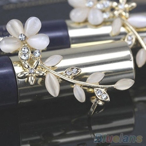 Amefurashi Anting Korea Crystal Opal Flower Clip Earring Beauty Source · Anting Korea Crystal Opal Flower