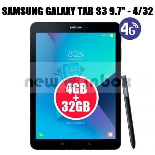 SAMSUNG GALAXY TAB S3 9.7 INCH - BLACK - RAM 4GB INTERNAL MEMORY 32GB - Black