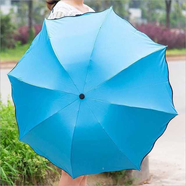 Payung lipat kecil / mini anti uv - biru