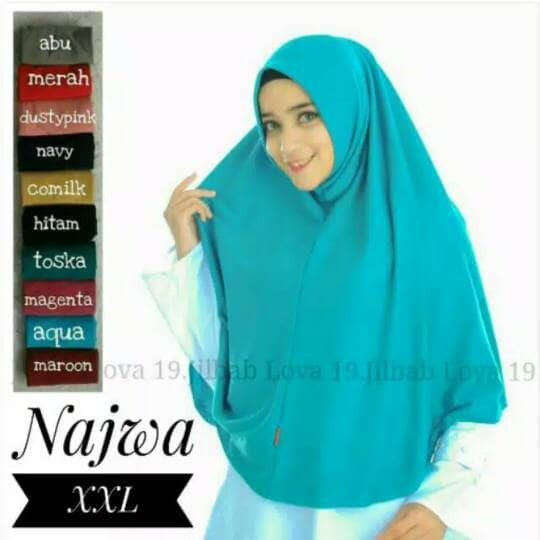harga Jilbab Kerudung Hijab Najwa Xxl Tokopedia.com
