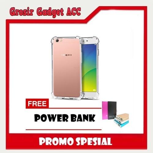 Soft case anti crack anti shock Oppo f1 plus/r9 FREE POWER BANK