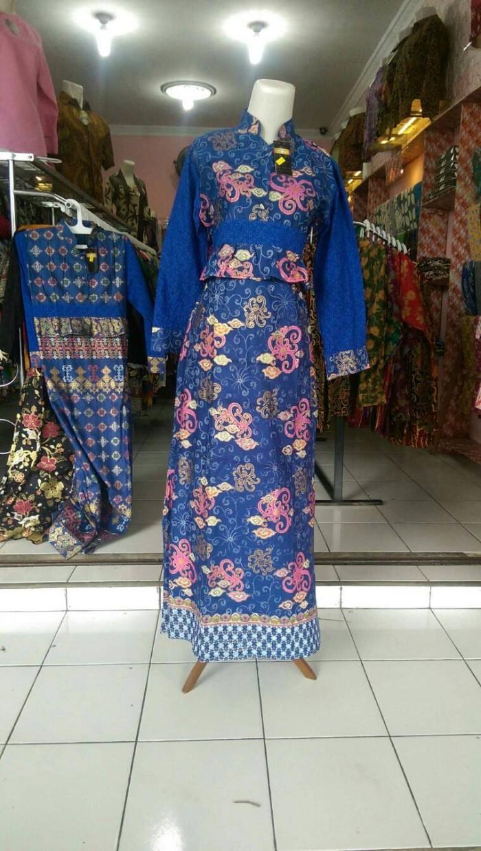 Jual Gamis Batik Printing Pekalongan Kombinasi Embos Dan Batik Prada