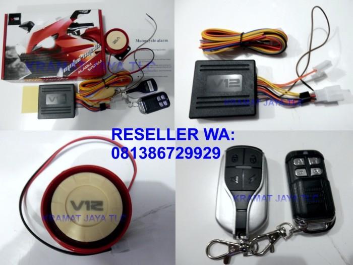 harga Alarm Motor V12 Dengan Starter 2 Remote Bergaransi Tokopedia.com