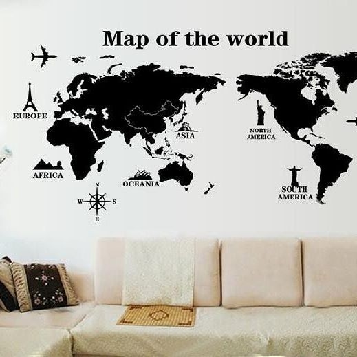 Jual world map wallpaper bandung tokopedia world map gumiabroncs Choice Image