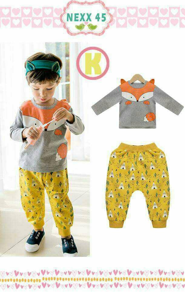 harga Baju setelan anak laki nexx 45 h musang abu Tokopedia.com